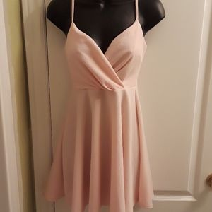 NWOT Streetwear Society pink slip dress